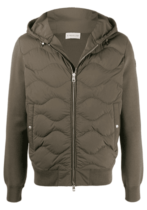 Moncler zip front padded jacket - Green