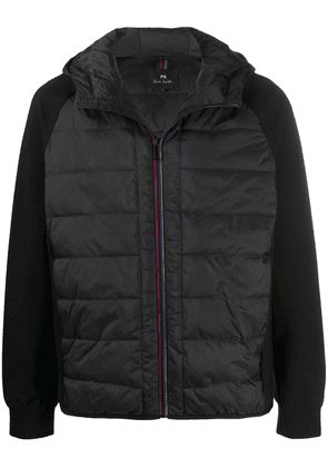 PS Paul Smith contrast sleeve padded jacket - Black