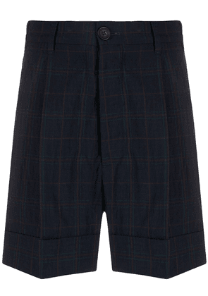 Vivienne Westwood pleated checked shorts - Blue