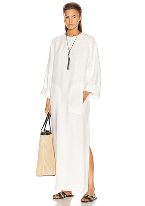 Saint Laurent Caftan Dress in Craie - White. Size 38 (also in ).