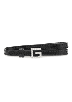 Square G patent leather choker