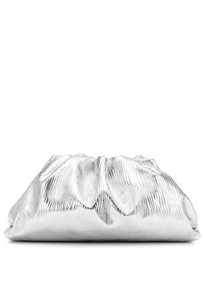 The Pouch metallic leather clutch