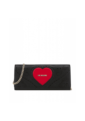Heart Embroidery Maxi Clutch