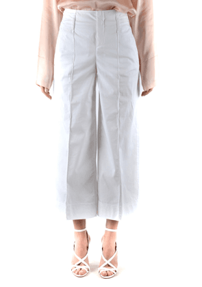 Fay Cropped Trousers in White