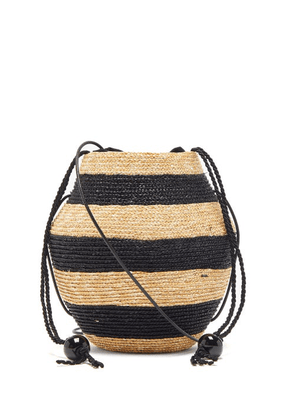 Eliurpi - Striped Mini Cross-body Bag - Womens - Black Multi