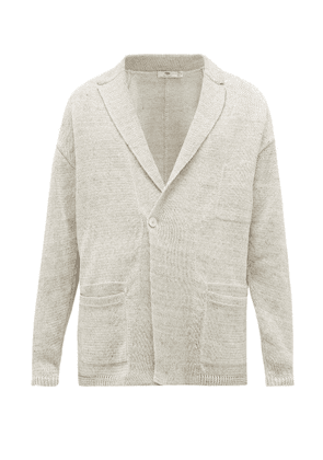 Inis Meáin - Double-breasted Linen Cardigan - Mens - Beige