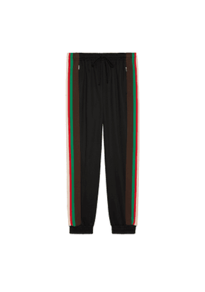 Technical jersey track bottoms