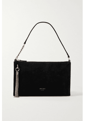 Jimmy Choo - Callie Mini Tasseled Suede Shoulder Bag - Black