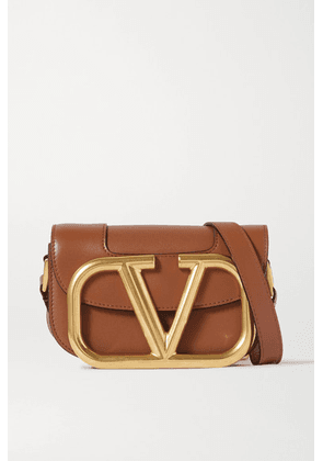 Valentino - Valentino Garavani Supervee Small Leather Shoulder Bag - Brown