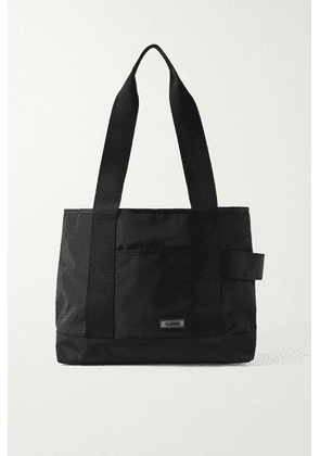 GANNI - Large Grosgrain-trimmed Shell Shoulder Bag - Black