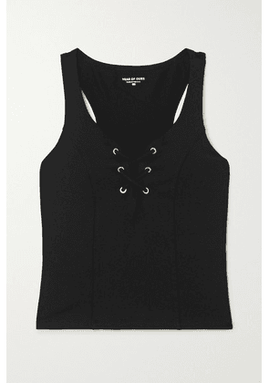 Year of Ours - Football Lace-up Stretch Tank - Black