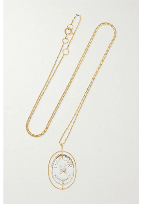 Pascale Monvoisin - L'amour 9-karat Gold Crystal Necklace - one size
