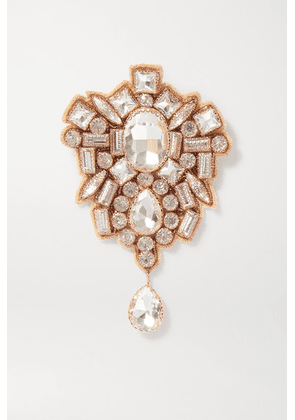 Dries Van Noten - + Christian Lacroix Gold-tone Crystal Brooch - White