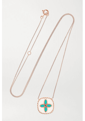 Pascale Monvoisin - Bowie 9-karat Rose Gold, Resin And Turquoise Necklace - one size