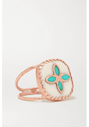 Pascale Monvoisin - Bowie N°2 9-karat Rose Gold, Resin And Turquoise Ring - 5