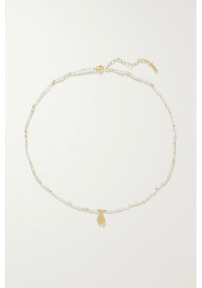 Chan Luu - Gold-plated And Quartz Necklace - one size