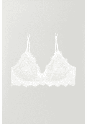 Anine Bing - Stretch-lace Soft-cup Triangle Bra - White