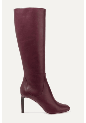 Jimmy Choo - Tempe 85 Leather Knee Boots - Burgundy