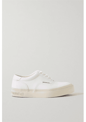 Alexander Wang - Andy Textured-leather Sneakers - White