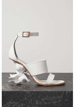 Alexander McQueen - Resin And Leather Sandals - White