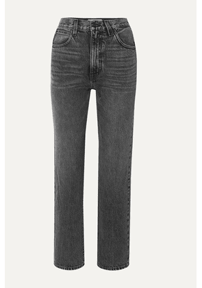 SLVRLAKE - London Cropped High-rise Straight-leg Jeans - Gray