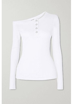 The Line By K - Harley Off-the-shoulder Ribbed Jersey Top - White