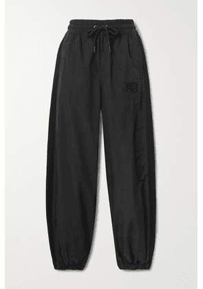 alexanderwang.t - Embroidered Shell And Cotton-jersey Track Pants - Black