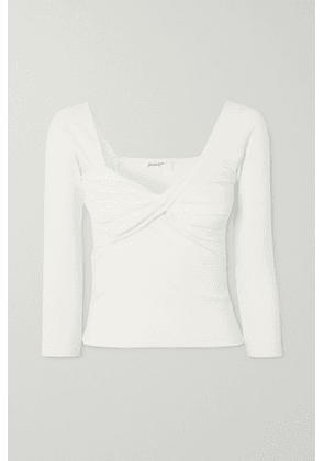 The Line By K - Stevie Twisted Ribbed Stretch-cotton Jersey Top - White