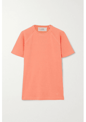 Victoria, Victoria Beckham - Neon Ribbed Cotton-jersey T-shirt - Coral