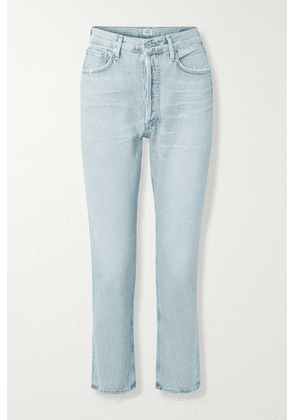 Citizens of Humanity - Charlotte Distressed High-rise Straight-leg Jeans - Light denim