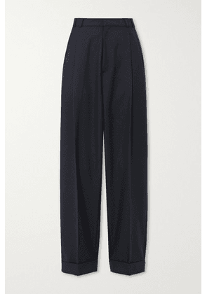 RE/DONE - 80s Pleated Twill Straight-leg Pants - Navy