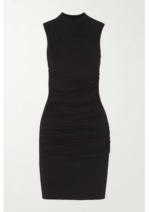 The Line By K - Ayme Ruched Stretch-jersey Mini Dress - Black