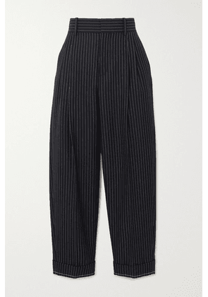 Chloé - Pinstriped Wool Tapered Pants - Navy