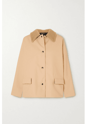 Kassl Editions - Shearling-trimmed Padded Rubber Coat - Beige