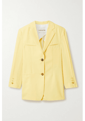 Andersson Bell - Cintia Oversized Woven Blazer - Yellow
