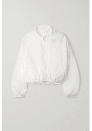 alexanderwang.t - Cropped Embroidered Shell Jacket - White