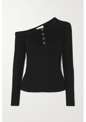 The Line By K - Harley Off-the-shoulder Ribbed Jersey Top - Black