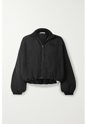 alexanderwang.t - Cropped Embroidered Shell Jacket - Black