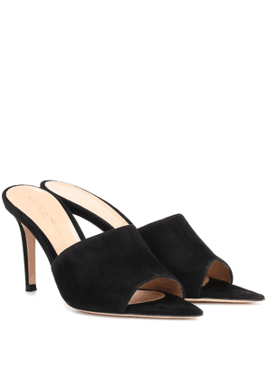 Pointy 85 suede mules