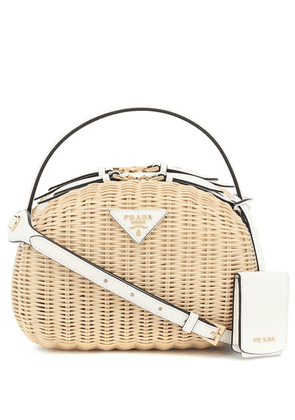 Odette wicker shoulder bag
