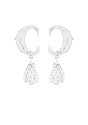 Darcey embellished clip-on earrings