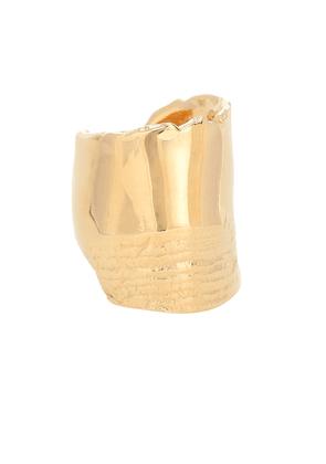 18kt gold-plated ring