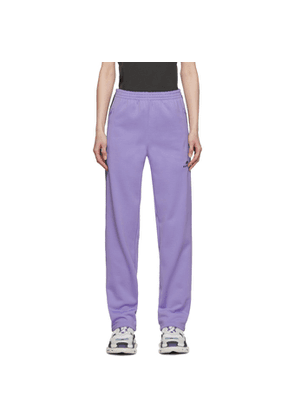Balenciaga Purple French Terry Lounge Pants