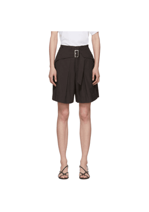3.1 Phillip Lim Black Belted Utility Shorts