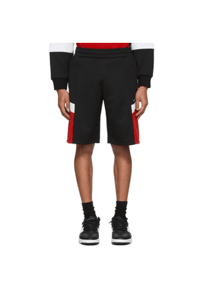 Givenchy Black and Red Logo Sweat Shorts