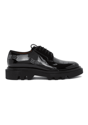Givenchy Black Patent Combat Derbys