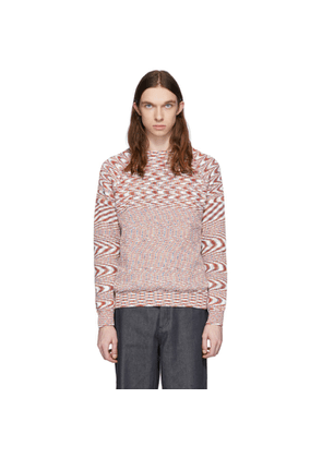 Missoni White and Red Knit Sweater