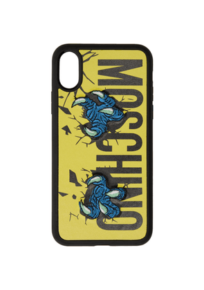 Moschino Yellow Monster Hands iPhone X Case
