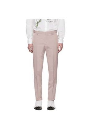 Givenchy Pink Wool Skinny Trousers