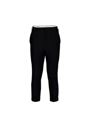 New wool tapered trousers